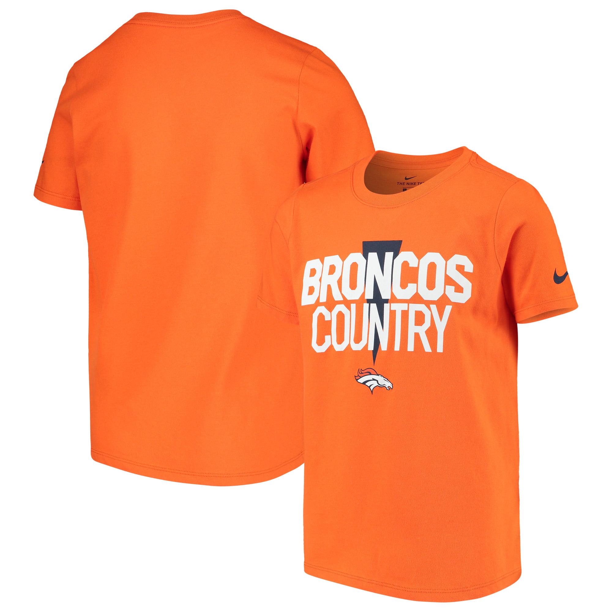 Denver Broncos Nike Youth Hyperlocal Inspiration Performance T-Shirt - Orange