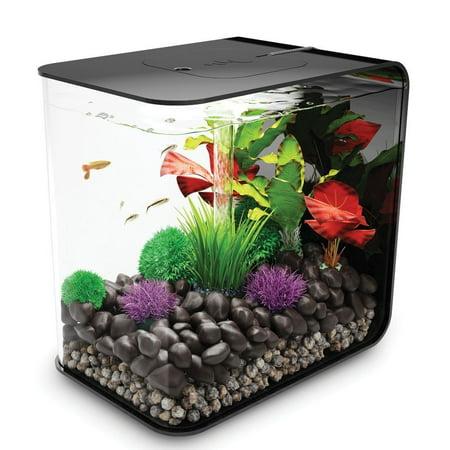 Black biOrb FLOW 30 - 8 Gallon Aquarium with Multi-Colored Remote Control LED Lighting