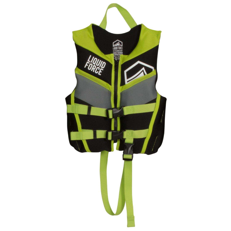 Liquid Force 2018 Fury CGA Child Vest (Black/Green) Kid's...