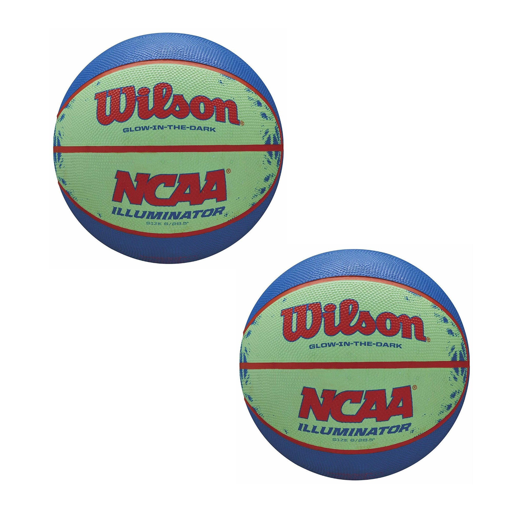 """Wilson NCAA Illuminator Glow-in-The-Dark Basketball (28.5"""", 2-Pack)"""