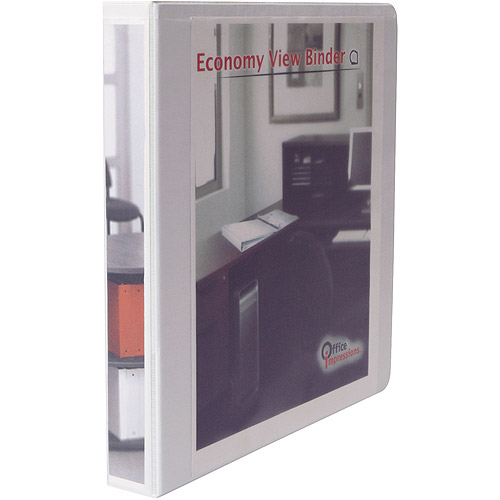 "Office Impressions Easy Comfort Deluxe Plus D-Ring View Binder, 1"" Capacity, White"