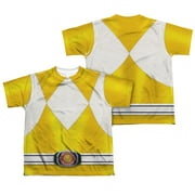 Power Rangers - Yellow Ranger (Front/Back Print) - Youth Short Sleeve Shirt - X-Large