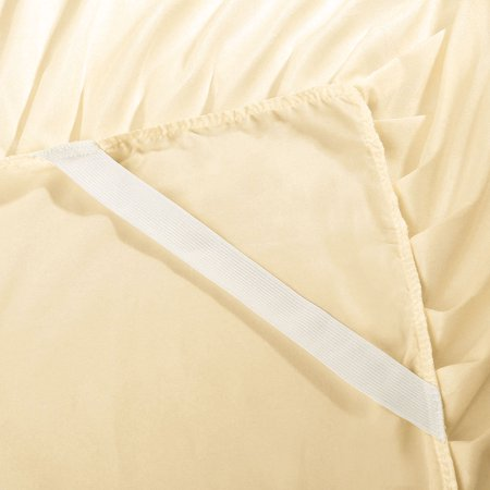 Pleated Bed Skirts Polyester Solid Dust Ruffle 14 Inch Drop Beige,21 - image 7 de 8