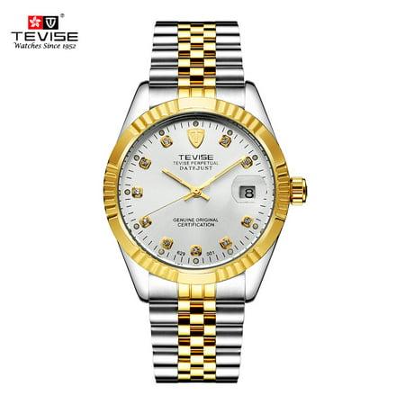 - TEVISE Men Brand Watch Fashion Luxury Wristwatch Waterproof Semi-automatic Mechanical Watch Luminous Sport Casual Watches