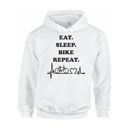 Awkward Styles Eat Sleep Bike Unisex Sweatshirt Biker Hoodies for Men I Love Biking Hoodie Sweater for Women Biking Clothes Eat Sleep Bike Sweater Biking Sweatshirt Fishers Gifts Hoodie for Fisher