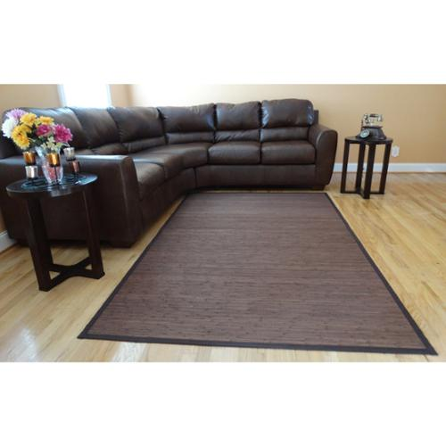 Acura Homes Hand Woven Brown Flatweave Rayon From Bamboo Rug ...