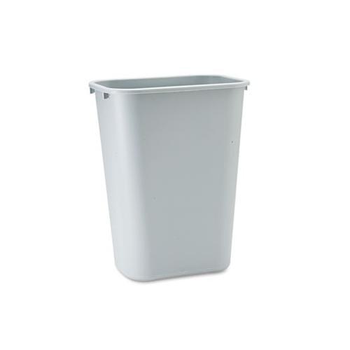 Rubbermaid Deskside Plastic Wastebasket, Rectangular, 10 1/4 Gal, Gray RCP295...