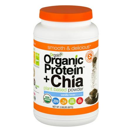 Orgain protéines organiques + Chia plante à base de poudre de vanille Bean, 2,0 LB