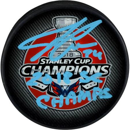 884adda915e John Carlson Washington Capitals 2018 Stanley Cup Champions Autographed Stanley  Cup Champions Logo Hockey Puck with