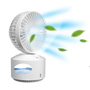 BIGTREE Table Fan Misting Cooling Wind Gust USB Rechargeable