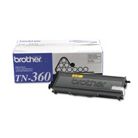 Brother Genuine TN360 High Yield Black Toner Cartridge with approximately 2,600 page yield/cartridge