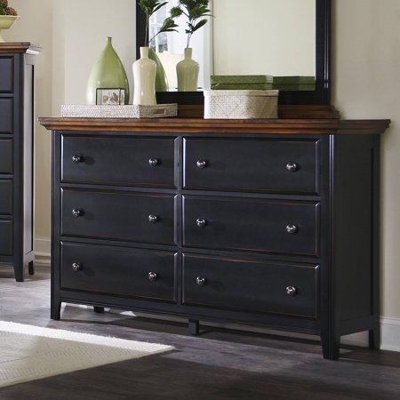 Coaster Fine Furniture Dresser Rustic Brown Rubbed Black 203153
