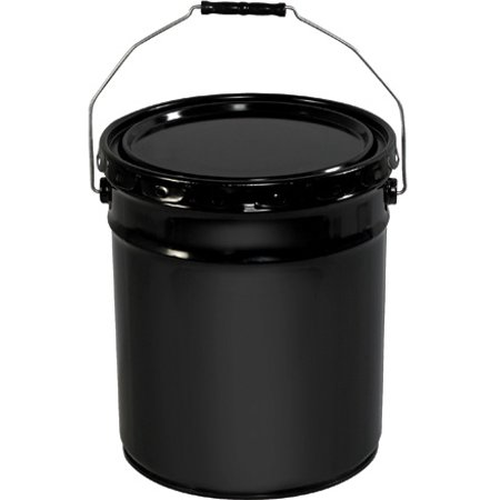 HAZ1078 Black 5 Gallon Open Head Metal Pail with Handle Made in USA 1 EACH](Black Metal Pail)