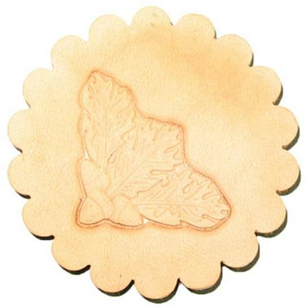 Oak Leaf Corner 3-D Stamp (Stamping Leaf)