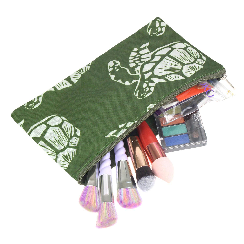 Zodaca Pencil Case Toiletry Holder Cosmetic Bag Travel Makeup Zip Storage Organizer