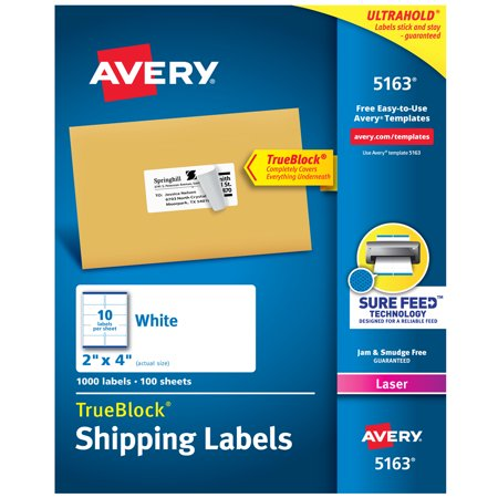 Avery Shipping Labels Sure Feed Technology Permanent Adhesive 2