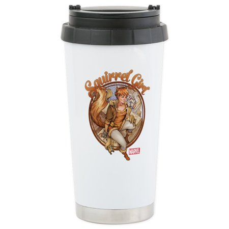 Roof Insulation (CafePress - Squirrel Girl Rooftop Stainless Steel Travel Mug - Stainless Steel Travel Mug, Insulated 16 oz. Coffee Tumbler)