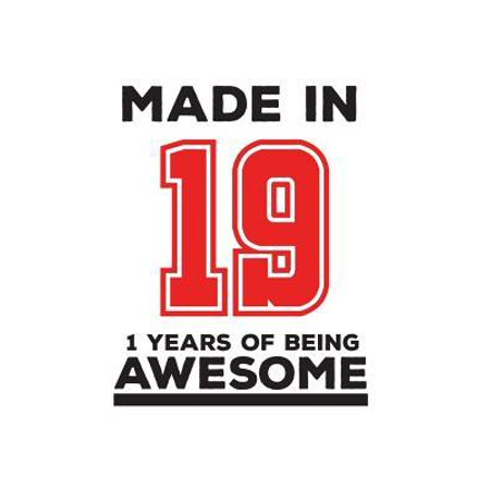 Made In 19 01 Years Of Being Awesome : Made In 19 01 Years Of Awesomeness Notebook - Happy 1st Birthday Being Awesome Anniversary Gift Idea For 2019 Young Kid Boy or Girl! Doodle Diary Book From Dad Mom To One Year Old Son (First Year Dating Anniversary Gift Ideas For Her)
