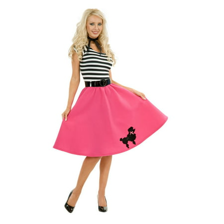 Halloween Women's Pink Poodle Dress Costume - Poodle Dress