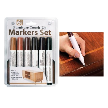 6 Pc Furniture Touch Up Marker Pen Wood Wax Scratch Repair Filler Remover Fix