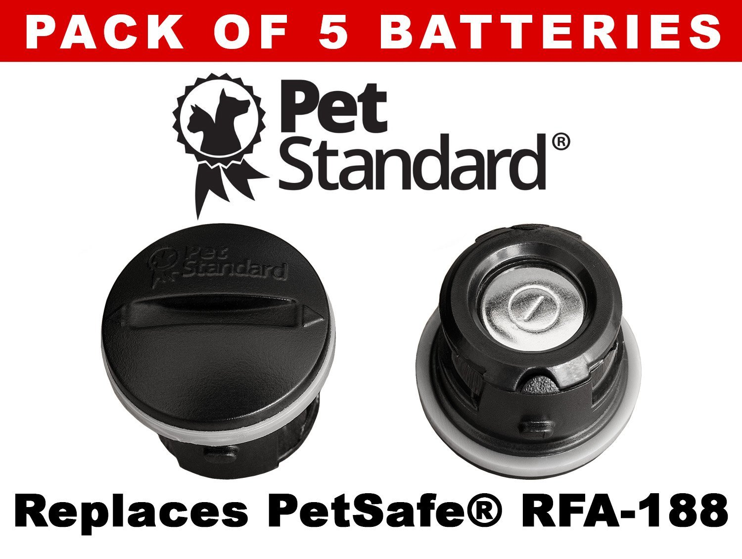 Petsafe Compatible Rfa 188 Replacement Batteries Pack Of 5