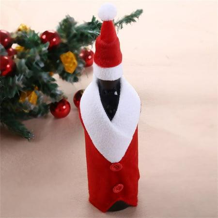 ICOCO Christmas Wine Bottle Set Santa Button Decor Bottle Cover Decor Home Party - image 6 de 6