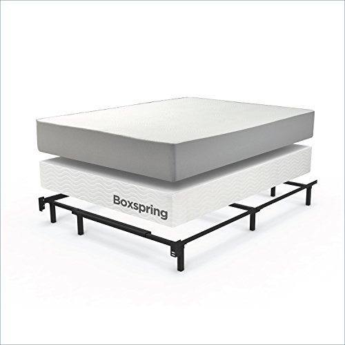 Zinus Compack Adjustable Steel Bed Frame for Box Spring amp