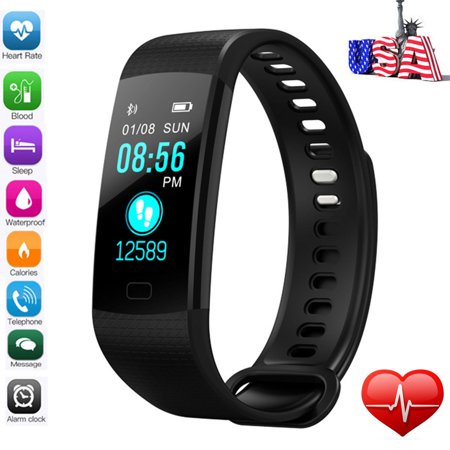 2018 Smart Watch Blood Pressure Oxygen Heart Rate Fitness Sports Wrist Band Bracelet for Android iOS