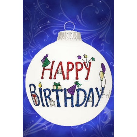 Happy Birthday Colorful Glass Ball Christmas Tree Ornament Made in the USA](Birthday Money Tree)