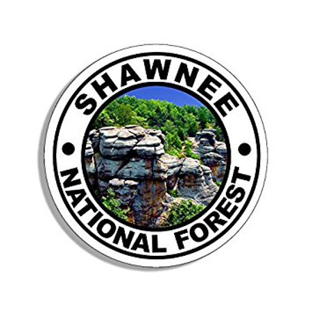 Round SHAWNEE National Forest Sticker Decal (travel rv illinois hike) Size: 4 x 4 (Best Hiking Stickers)