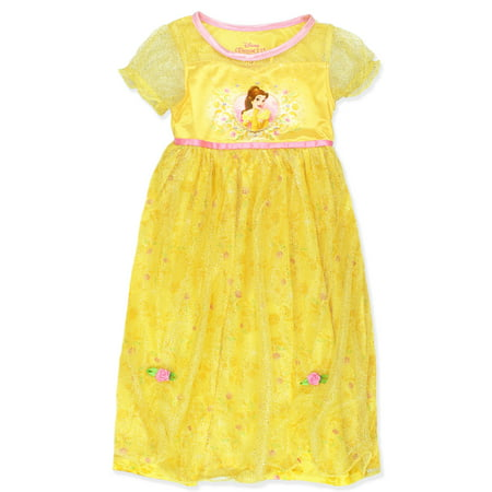 Disney Princess Belle Beauty and the Beast Girls Fantasy Nightgown 21DP364GGS - Disney Princess Dressing Gowns