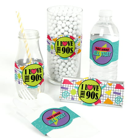 90's Throwback - DIY Party Supplies - 1990s Party DIY Party Favors & Decorations - Set of 15