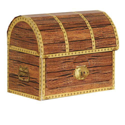 The Beistle Company 4 Piece Pirate Treasure Chest Favor Decorative Box