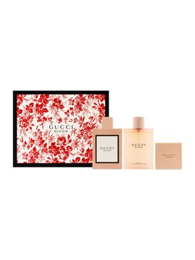 Gucci Bloom for Women 3 Piece Set Includes: 3.3 oz Eau de Parfum Spray + 3.3 oz Body Oil + 3.5 oz Perfumed Soap