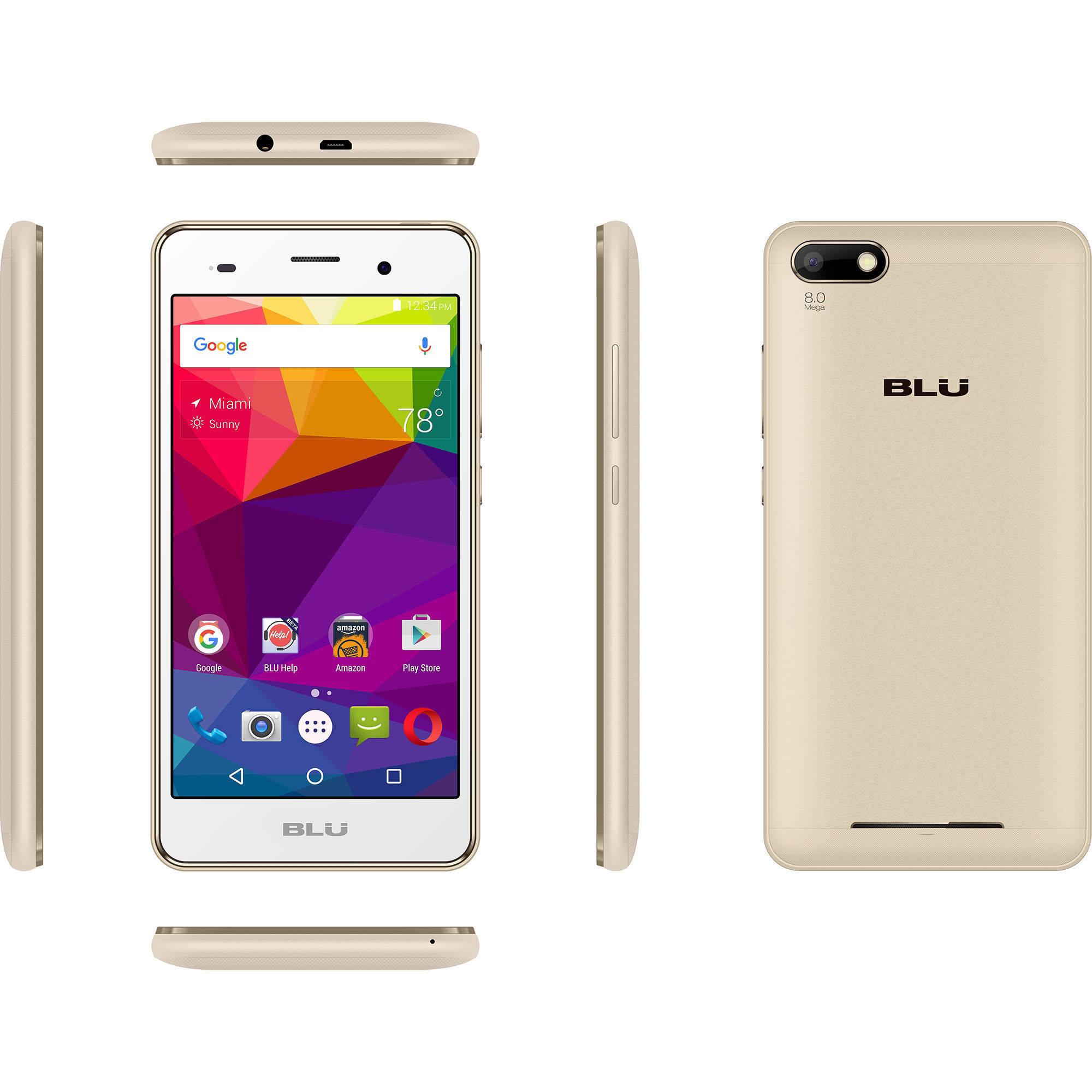 Celular BLU Dash X2 D110U GSM Smartphone (desbloqueado), oro + BLU en VeoyCompro.com.co