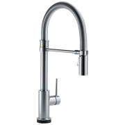 Trinsic Single Handle Pull-Down Spring Spout Kitchen Faucet with Touch2O Technology in Arctic Stainless 9659T-AR-DST