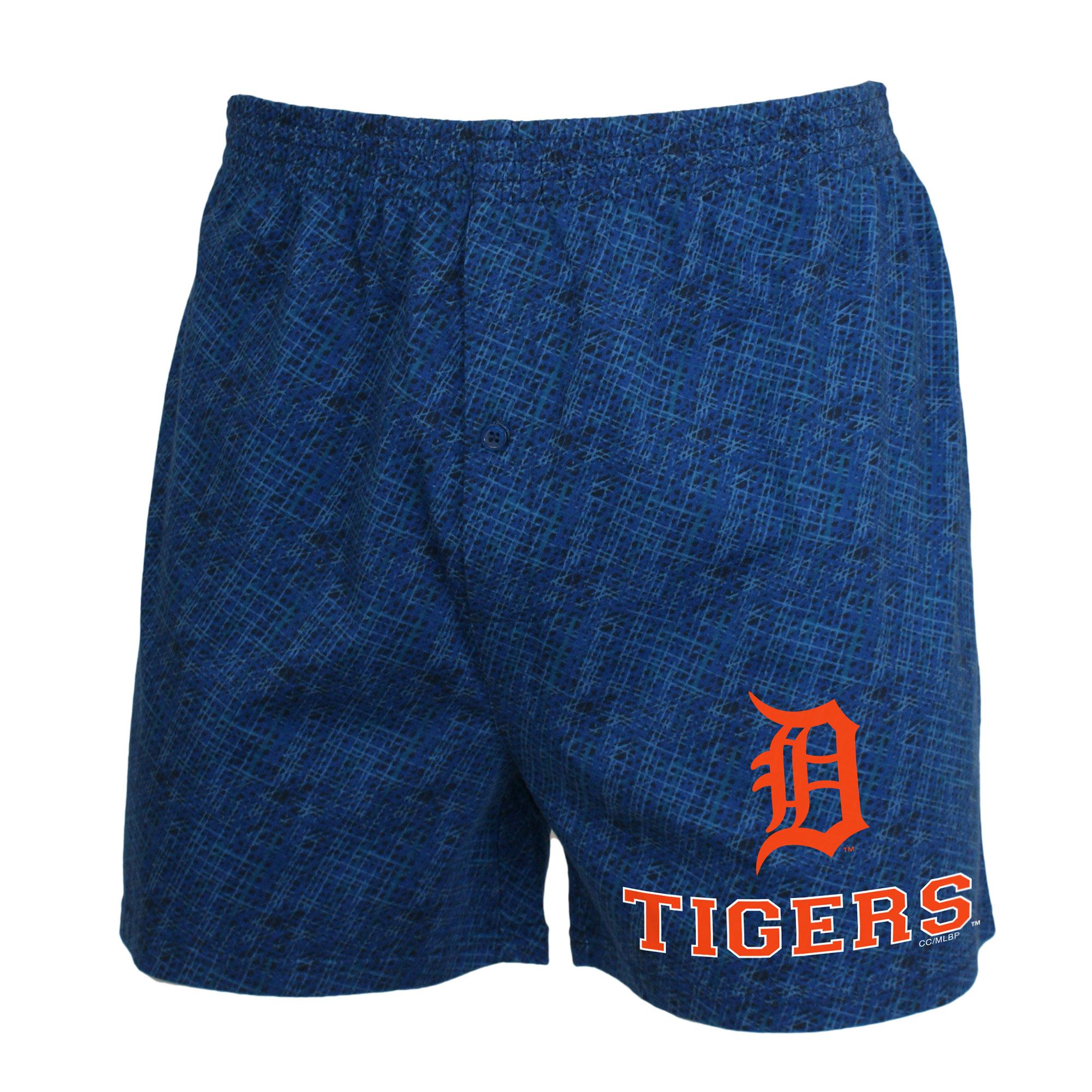 Detroit Tigers Concepts Sport Showdown Knit Boxer Shorts - Navy