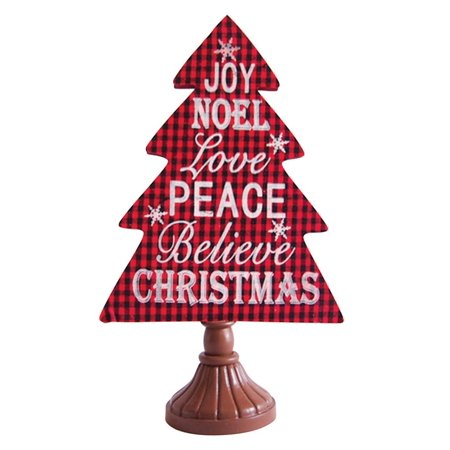 Celebrations JK35178 Christmas Tree Card Holder, Red, MDF, 15.55