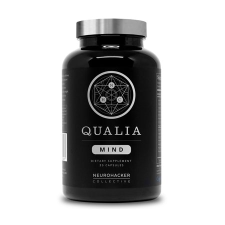 Qualia Mind Noontropics by Neurohacker Collective | Top Brain Supplement for Memory, Focus, Mental Energy, and Concentration with Ginko biloba, Alpha GPC, Cacopa monnieri, (35