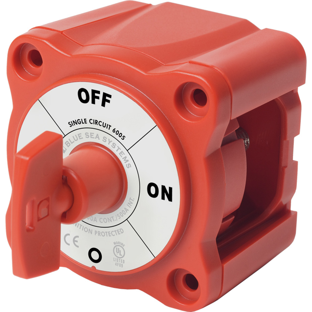 Blue Sea Systems 6005 M Series Single Circuit On-Off Mini Battery Switch with Key