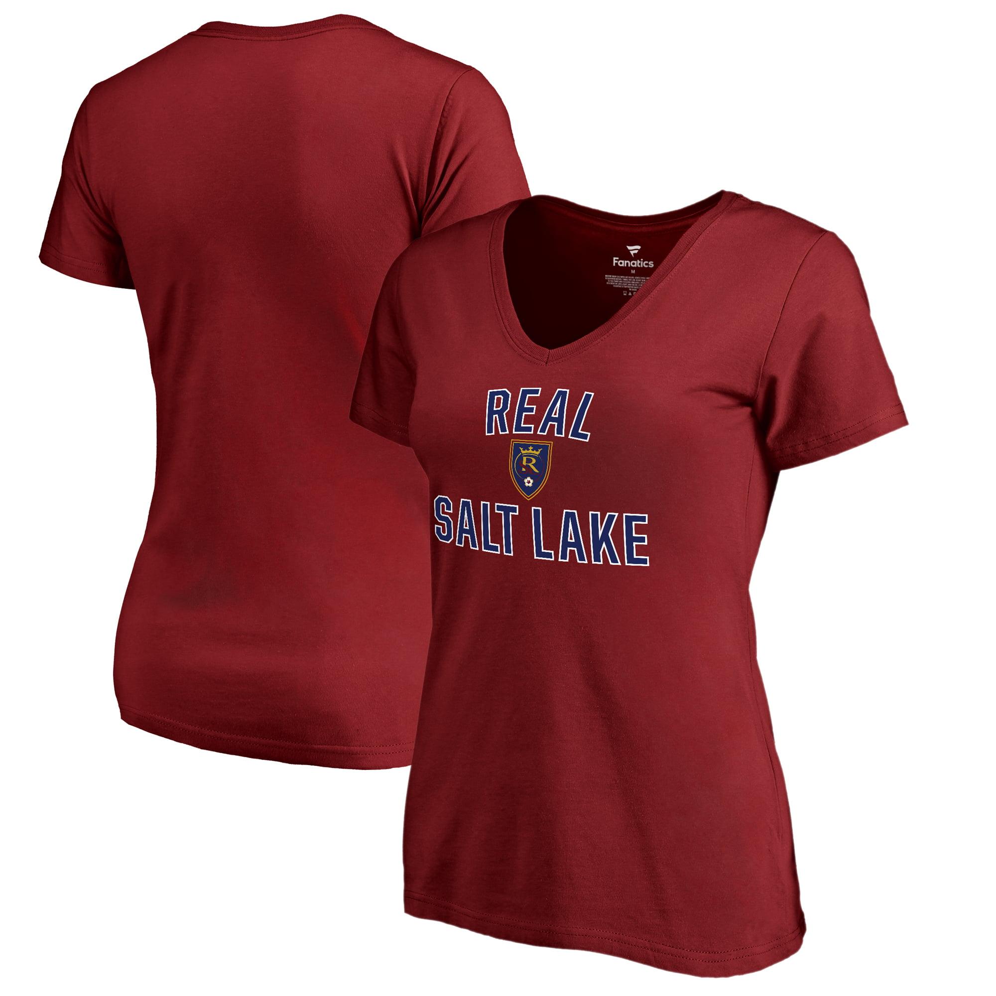 Real Salt Lake Fanatics Branded Women's Victory Arch V-Neck T-Shirt - Cardinal