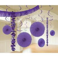 Purple Party Decoration Kit, 18pcs