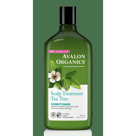 Avalon Organics Scalp Treatment Tea Tree Conditioner, 11 Oz