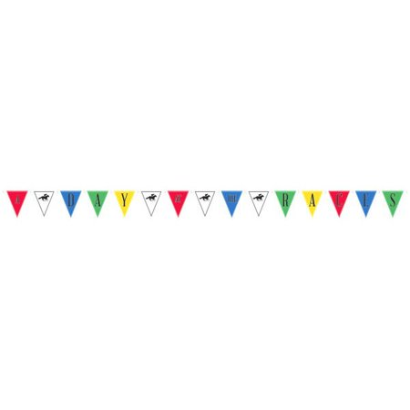 Kentucky Derby 'Derby Day' Jumbo Pennant Banner (1ct)