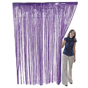 Purple Metallic Foil Curtain Party Decoration