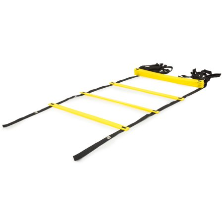 ProsourceFit Speed Agility Ladder 8 rung for Speed Training and Sports Agility Workouts with Free Carrying Bag