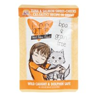 (12 Pack) Weruva BFF Tuna & Salmon Sweet-Cheeks Grain-Free Wet Cat Food, 3 oz. Cans