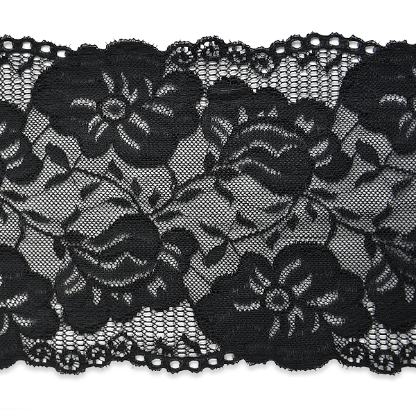 """Expo Int'l 2 yards of Annie 6"""" Stretchable Polyester Chantilly Lace Trim"""