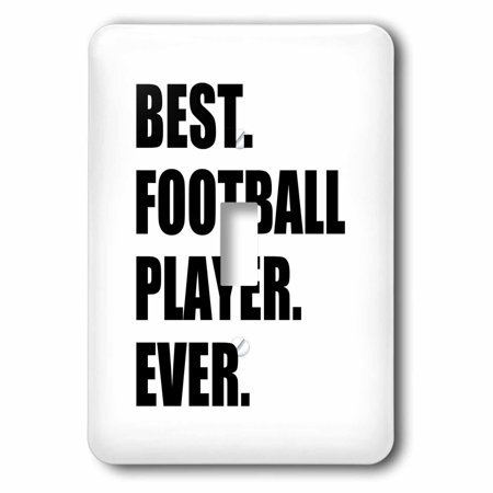 3dRose Best Football Player Ever - fun gift for soccer or American football, Double Toggle