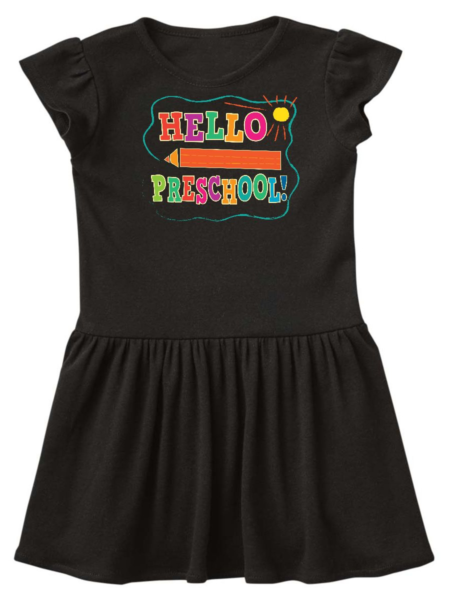 Hello Preschool 1st Day of School Toddler Dress